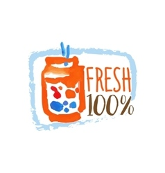 Percent Fresh Smoothie Promo Sign vector image