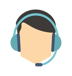 person with headset vector image