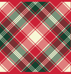 Pixel plaid texture fabric seamless pattern vector