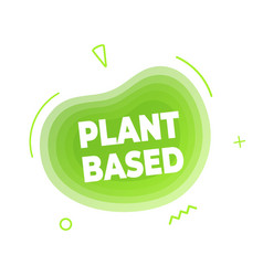 Plant based vegan diet icon sign vector