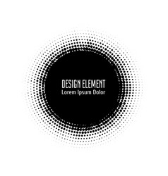 Pop art halftone logo black circle design vector