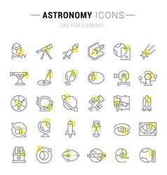 Set line icons astronomy vector