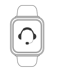 smart watch with headgear on screen icon vector image