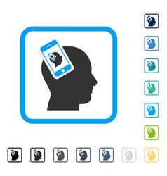 smartphone head plugin recursion framed vector image