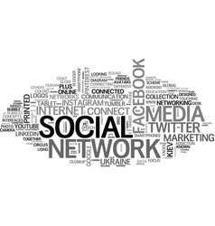social network word cloud concept vector image