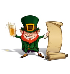 St patrick scrol vector
