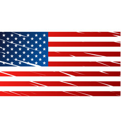 Tattered flag of united states of america usa vector