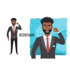 The evil black african american businessman vector