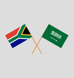the south african and ksa flags vector image