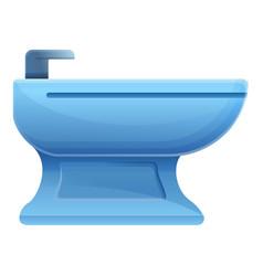 Toilet bidet icon cartoon style vector