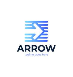 Transport logistic logo express arrow moving vector