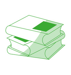 Two closed books icon image vector