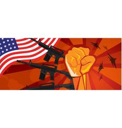 Usa america war propaganda hand fist strike vector