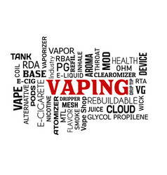 vaping word cloud concept on white vector image