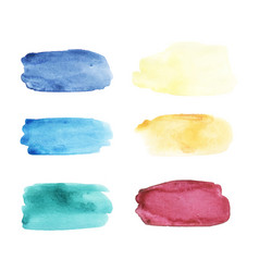 watercolor brushstrokes set hand drawn vector image vector image
