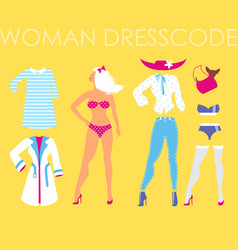 Women dress code romantic style on vector