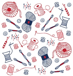 colorful sewing doodle hand drawn vector image