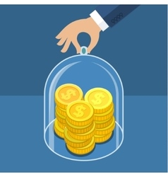 Concept for saving money vector image vector image