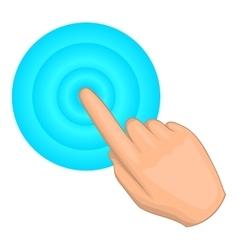 Cursor hand click icon cartoon style vector image