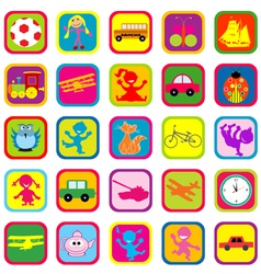 Seamless background with toys for kids vector image vector image