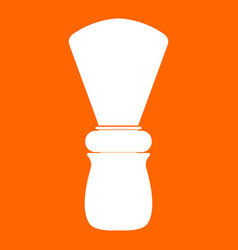 shaving brush white icon vector image vector image