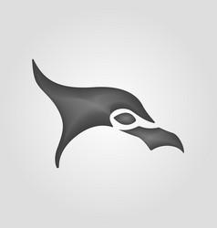 eagle logo design template negative space vector image