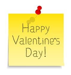 Happy Valentines day congratulation vector image vector image