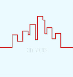 city contour on a blue background design element vector image