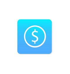 flat money icon vector image