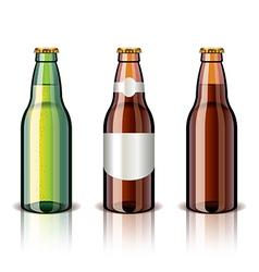 object beer bottles vector image vector image