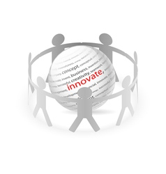 People Chain innovate vector image vector image