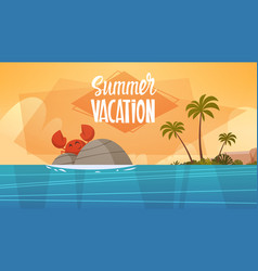 summer vacation sea landscape beautiful beach vector image