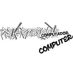 The past and present of computers text background vector