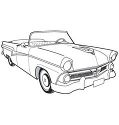 1957 ford customline sedan vector