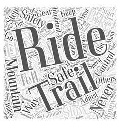 Mountain Biking Safety Tips Word Cloud Concept vector image vector image