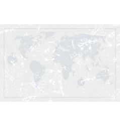 Nautical grunge world map vector image