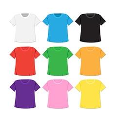 T-shirt template and mockup vector image