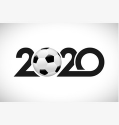 2020 football color vector image