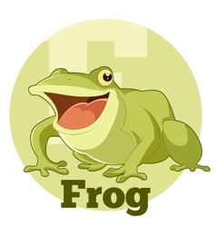ABC Cartoon Frog vector image