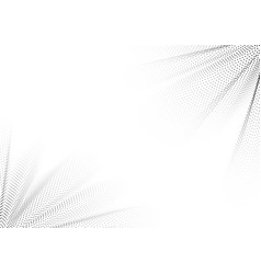 abstract black dots wave particle on white vector image