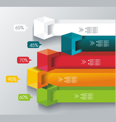 abstract cubes and banners infographics vector image