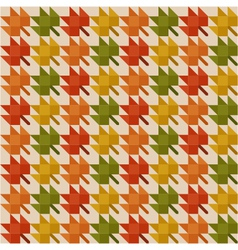 abstract pattern with autumn leaves vector image