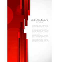 Abstract red background with lines vector image