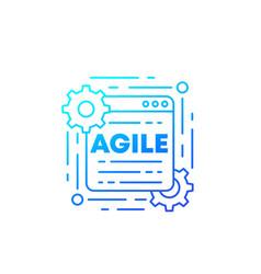 Agile software development process icon vector