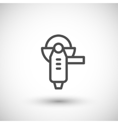 Angle grinder line icon vector