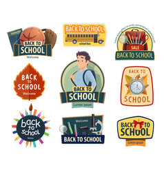 Back to school and education icons vector