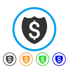 bank insurance shield rounded icon vector image