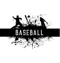Baseball grunge label or emblem isolated vector