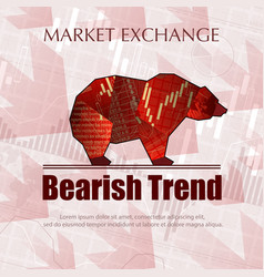 bearish market trend vector image