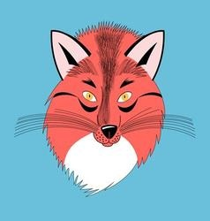 beautiful portrait of a red Fox vector image